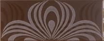 Ricchetti design cacao RI-0539994 Dekorfliese 20x50 satiniert