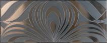 Ricchetti design nero RI-0540128 Dekorfliese 20x50 satiniert