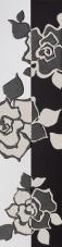Villeroy & Boch Melrose weiss-schwarz VB-1895 NW65  Bordüre 15x60 matt-glänzend
