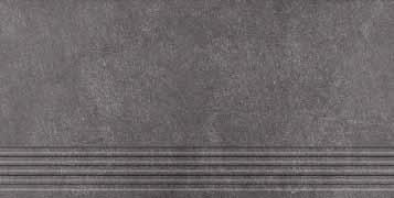 Agrob Buchtal Xeno anthrazit AB-432663 Stufe 30x60 eben, vergütet R10/A