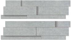 Agrob Buchtal Inside-Out zementgrau AB-281516 Dekorelement 15x55 3D reliefiert