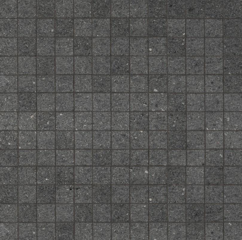 Ariostea Pietre High-Tech  Basalto Grigio ARI-MCST330 Mosaik 30x30 strukturiert R11