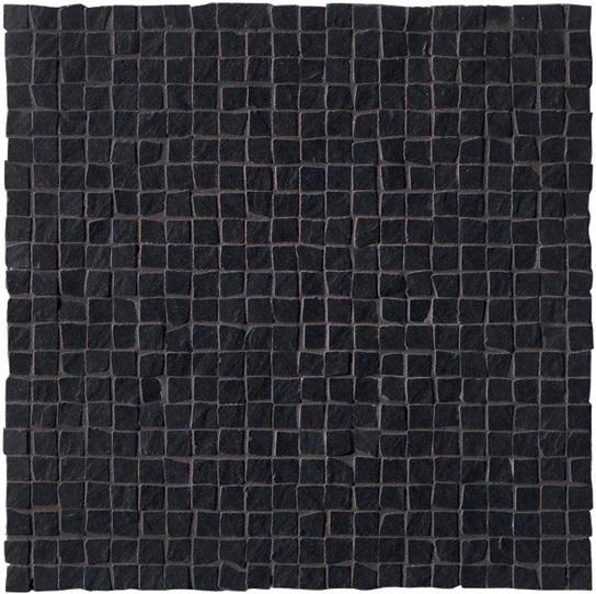 Ariostea Pietre High-Tech  Black Ardesia ARI-MIC277 Mosaik 30x30 strukturiert R10