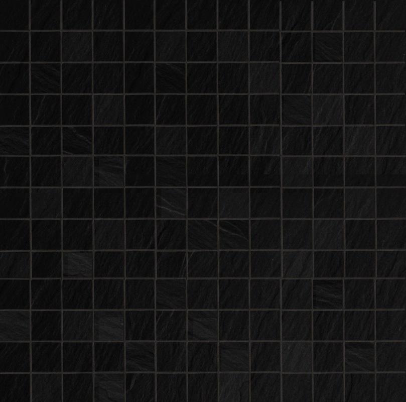 Ariostea Pietre High-Tech  Black Ardesia ARI-MCST277 Mosaik 30x30 strukturiert R10