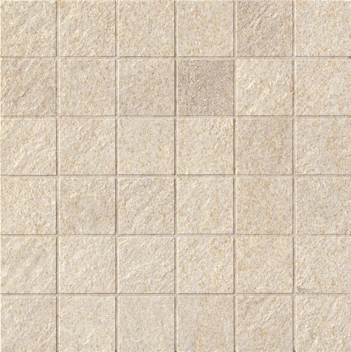Ariostea Pietre High-Tech  Crema Europa ARI-BLIST296 Mosaik 30x30 strukturiert R11