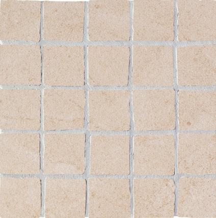 Ariostea Pietre High-Tech  Crema Europa ARI-MOS296M Mosaik 30x30 strukturiert R11