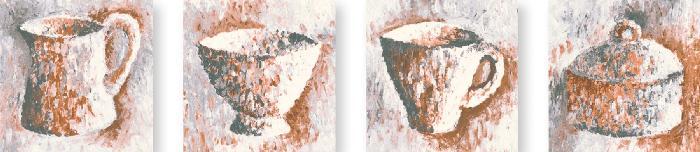 Jasba Paso hell-cotto - creme-beige JA-3173 Dekor 'Sigma' 10x10 matt