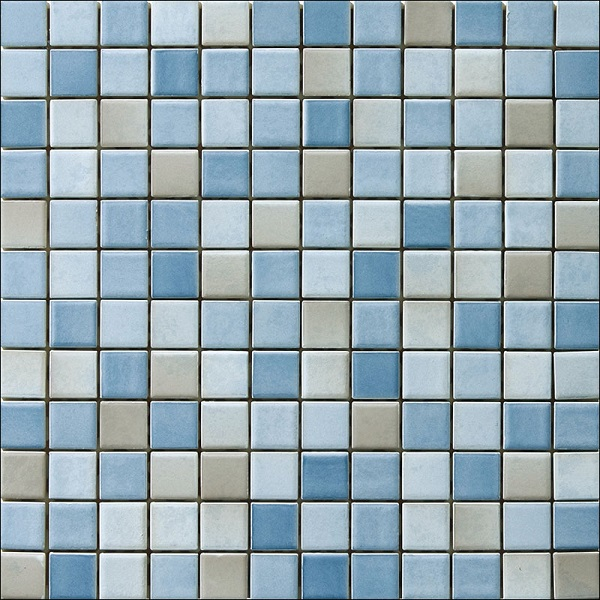 Engers Ohio hellblau-grau-OHI330 Mosaik 2,5x2,5 30X30 matt