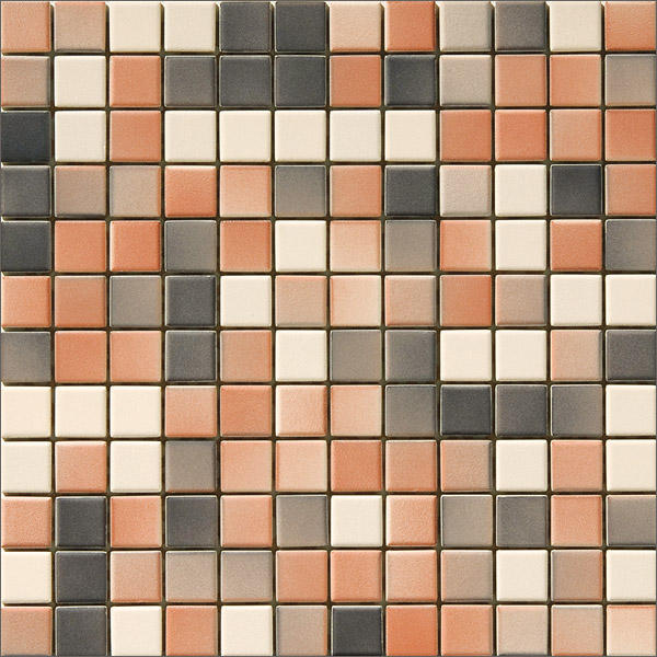 Engers Ohio crem-rotbraun-anthrazit EN-OHI450 Mosaik 2,5x2,5 30X30 matt