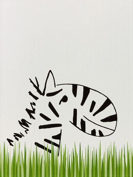 Steuler LOUIS & ELLA Zebra/Graskante St-Y34043001 Dekor 25x33 matt