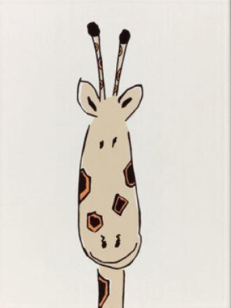 Steuler LOUIS & ELLA Giraffenkopf, natur St-Y34055001 Dekor 25x33 matt