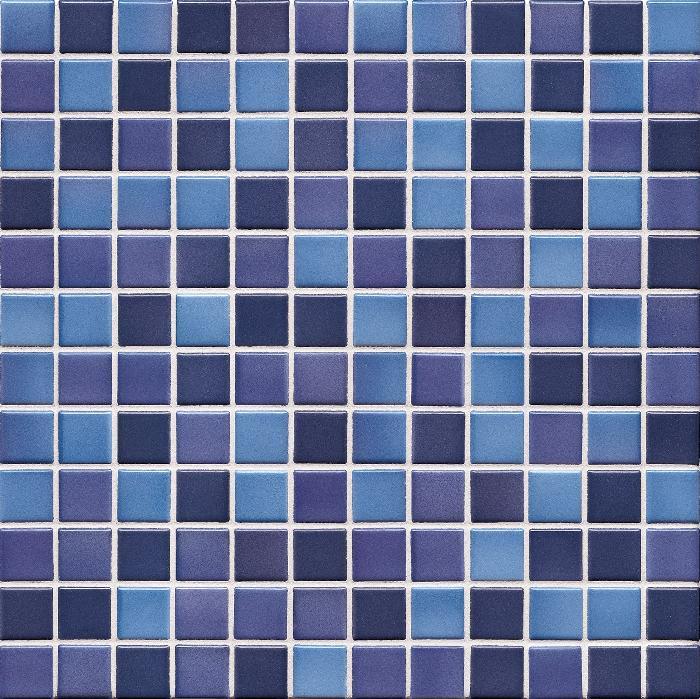 Jasba Lavita indigoblau JA-3603H Mosaik 2,4x2,4 30x30 matt-glänzend