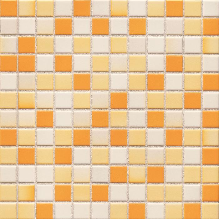 Jasba Lavita sonnenorange JA-3605H Mosaik 2,4x2,4 30x30 matt-glänzend
