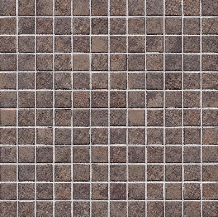 Jasba Terrano kastanienbraun JA-5908H Mosaik 2,4x2,4 30x30 matt