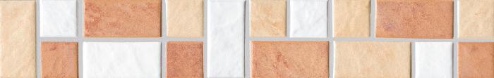 Jasba Terrano cotto/beige/edelweiß JA-5953H-33 Bordüre 30x5 matt