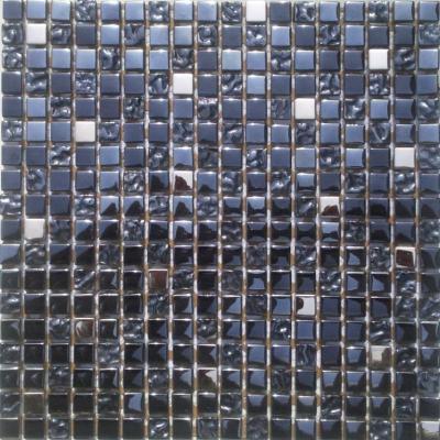 Glas-Metall Mosaik 1,5x1,5 metallic mix FP-QCJA0004-B 30x30 glänzend