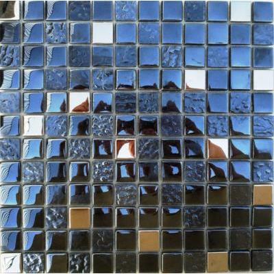 Glas-Metall Mosaik 2,3x2,3 metallic mix FP-QCJA0004-F 30x30 glänzend