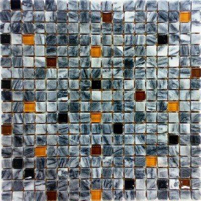 Glas-Naturstein Mosaik 1,5x1,5 grigio FP-2008B2-11 30x30