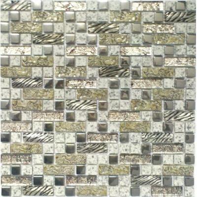Glas-Naturstein Mosaik grün mix FP-SK303 30x30