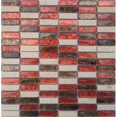 Glas-Naturstein Mosaik 1,5x5 condor FP-SG103 30x30