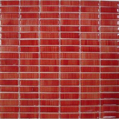 Glas Mosaik 1,5x5 rot FP-QK124-H 30x30