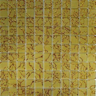 Glas Mosaik 2,5x2,5 creme/gold FP-QCG004-A 30x30