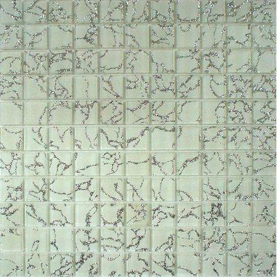 Glas Mosaik 2,5x2,5 weiss/silber FP-QCG010-A 30x30