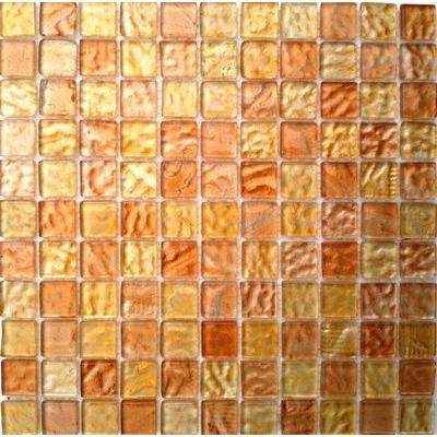 Glas Mosaik 2,5x2,5 bernstein hell FP-BernsteinH 30x30