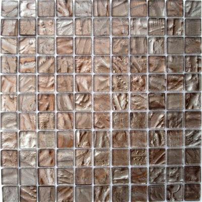 Glas Mosaik 2,5x2,5 bernstein dunkel FP-BernsteinD 30x30