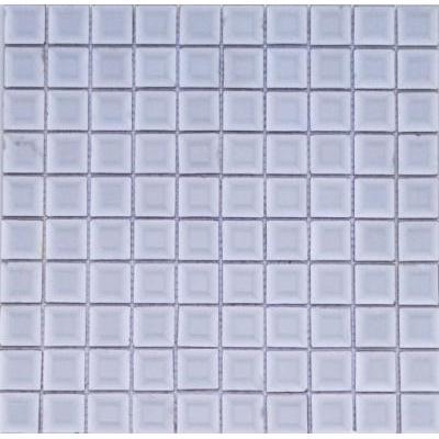 Glas Mosaik 3x3 silber FP-HT01 30x30 glänzend