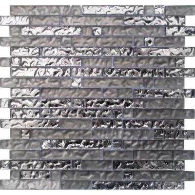 Glas Mosaik silber FP-SM101 30x30