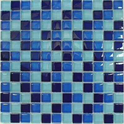 Glas Mosaik 2,3x2,3 blau mix FP-SDA-806 30x30
