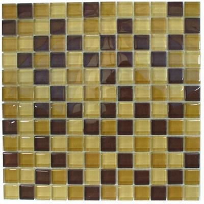 Glas Mosaik 2,3x2,3 gelb-braun mix FP-SDA-800 30x30