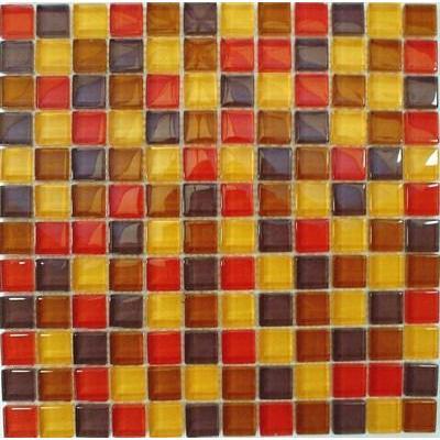 Glas Mosaik 2,3x2,3 rot mix FP-SDA-805 30x30