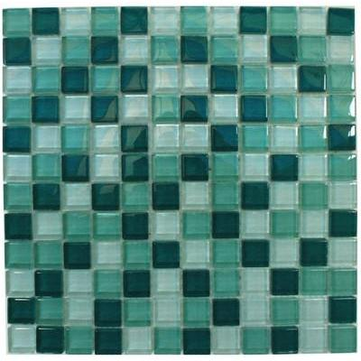 Glas Mosaik 2,3x2,3 dunkelgrün FP-SD-096 30x30