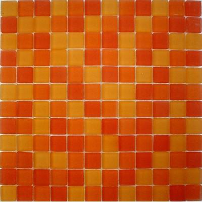 Glas Mosaik 2,3x2,3 orange mix FP-QMH1070-F 30x30 matt