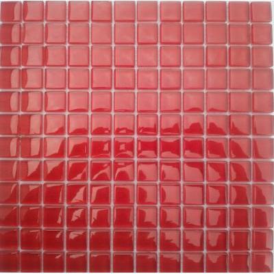 Glas Mosaik 2,3x2,3 rot FP-Q8001-F 30x30