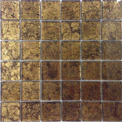 Glas Mosaik 4,7x4,7 schwarz/gold FP-CondorG 30x30