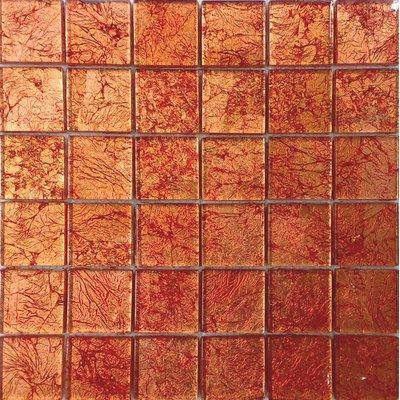 Glas Mosaik 4,7x4,7 rot FP-CondorR 30x30