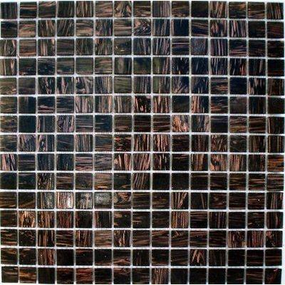 Glas Mosaik 2x2 schwarz/gold FP-20G51 30x30