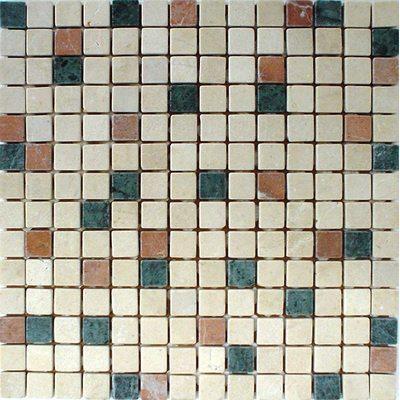 Naturstein Mosaik 2x2 beige mix FP-D13 TC 30x30