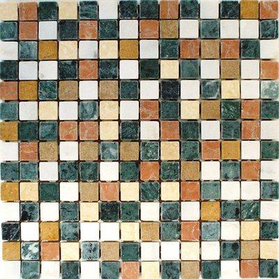 Naturstein Mosaik 2x2 beige/grün FP-F13 RV-AV 30x30