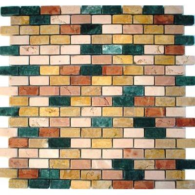 Naturstein Brick orange gelb mix FP-Quadro Nevetra 30x30