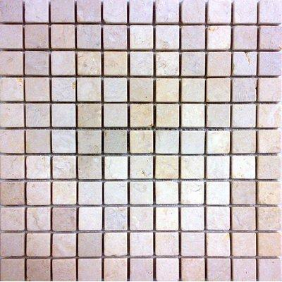 Naturstein Mosaik 2,5x2,5 travertin FP-MM0004-A 30x30