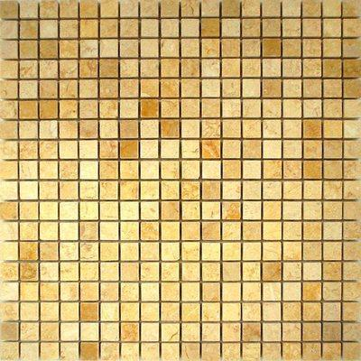 Naturstein Mosaik 1,5x1,5 gold FP-DS-001 30x30 poliert