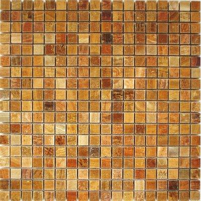 Naturstein Mosaik 1,5x1,5 braun FP-DS-007 30x30 poliert