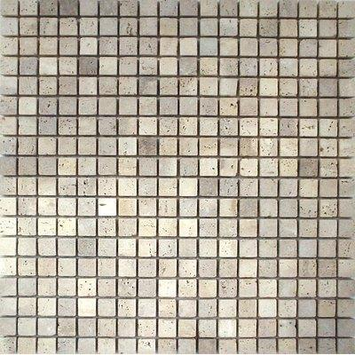 Naturstein Mosaik 1,5x1,5 trav Chiaro FP-DD-008 30x30
