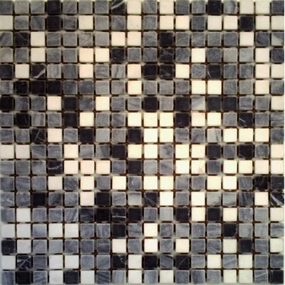 Naturstein Mosaik 1,5x1,5 grau mix FP-RS082 30x30 matt