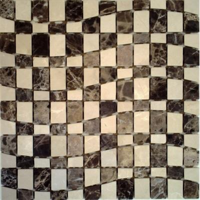 Naturstein Mosaik cafe FP-Welle B 30x30