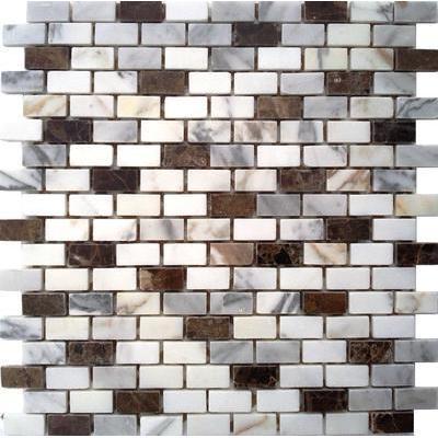 Naturstein Brick braun/weiß FP-JDPC (550+003)-4 Brick 30x30